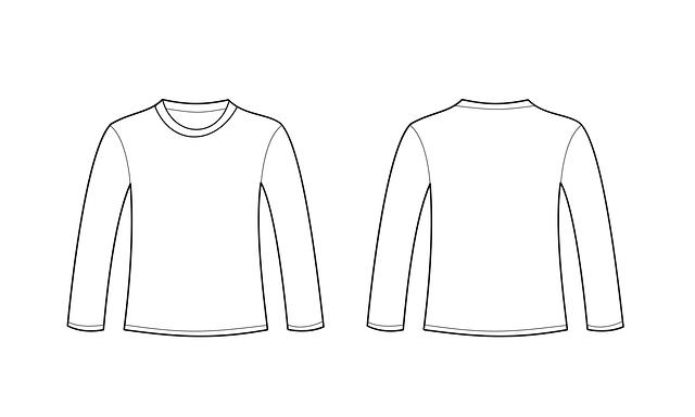 LS T-shirt template
